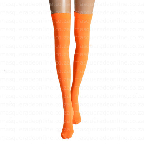 Masquerade Orange Thigh High Stockings
