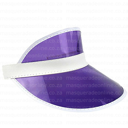 Masquerade Purple Visor Hat