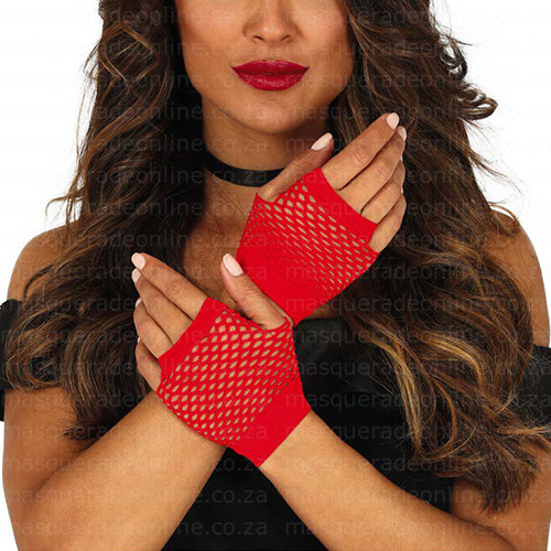 Masquerade Fishnet Gloves