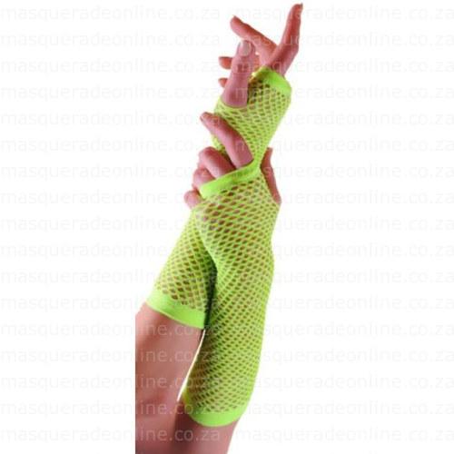 Masquerade Neon Fishnet Gloves