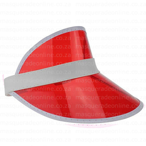Masquerade Red Visor HAt