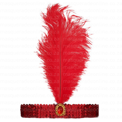 Masquerade Red Gatsby Headband