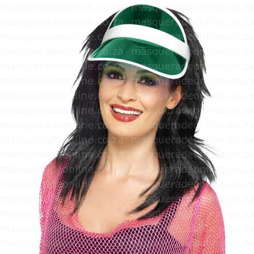 MAsquerade Green Visor Hat