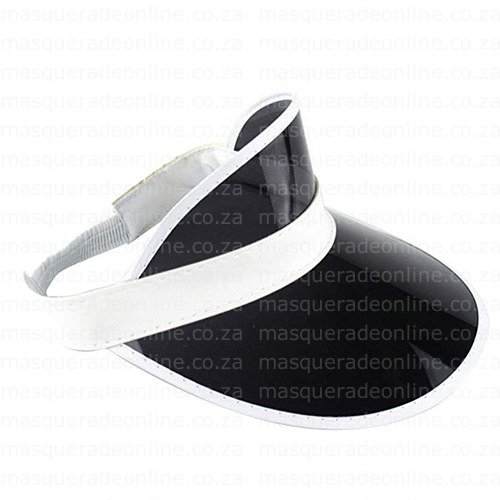 Masquerade Black Visor Hat