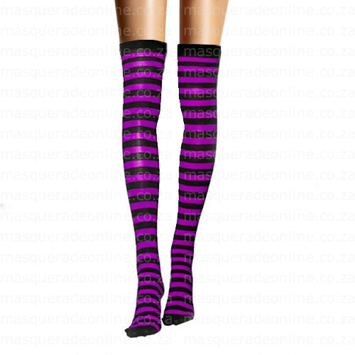 Masquerade Purple and Black Thigh High
