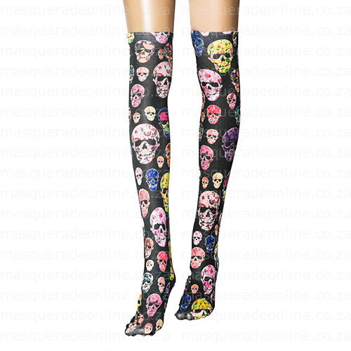 Masquerade Halloween Thigh High Stockings