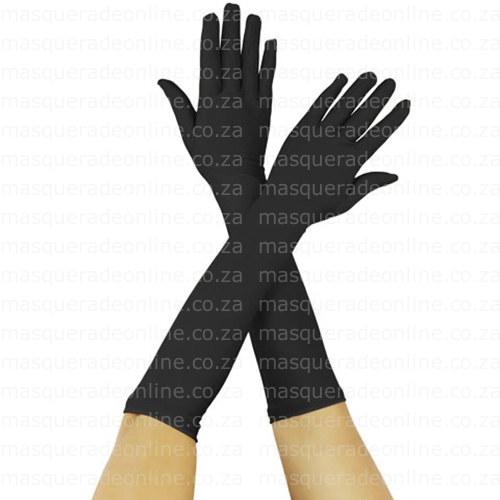 Masquerade Black Gloves