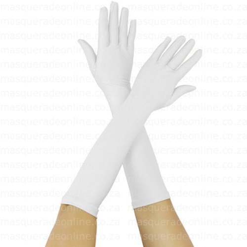 Masquerade White Gloves