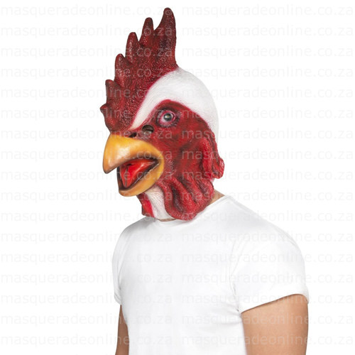 Masquerade Latex Rooster Mask