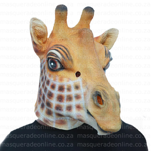 Masquerade Latex Giraffe Mask