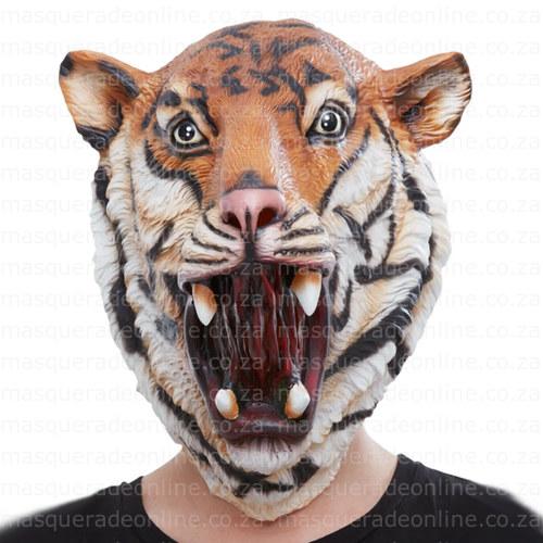 Masquerade Tiger Latex Mask