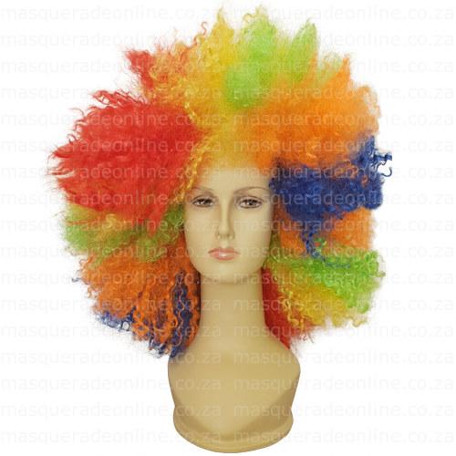 Masquerade Rainbow Afro