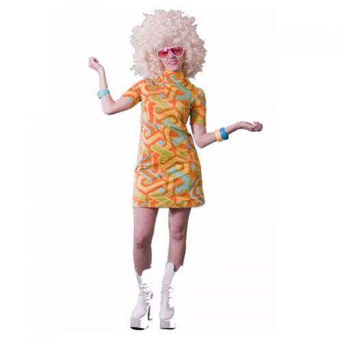 70's Mini Dress Masquerade Costume Hire