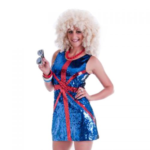 Sequined Union Jake Dress Masquerade Costume Hire