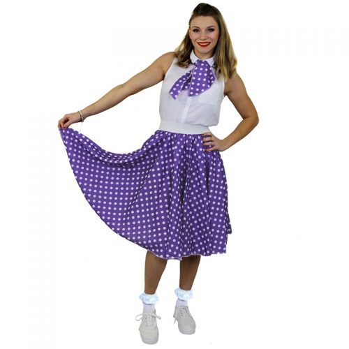 1950's Rock 'n Rock Polka Dot Skirt