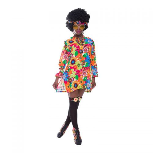 Flower Power Mini Dress Masquerade Costume Hire