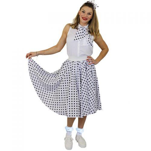 1950's Rock 'n Rock Polka Dot Skirt Masquerade Costume Hire1950's Rock 'n Rock Polka Dot Skirt