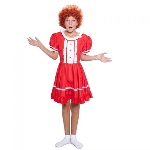 Girl's Annie Outfit Masquerade Costume Hire