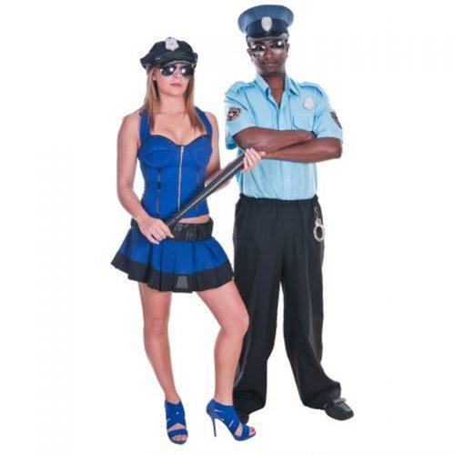 Police Couple Masquerade Costume Hire