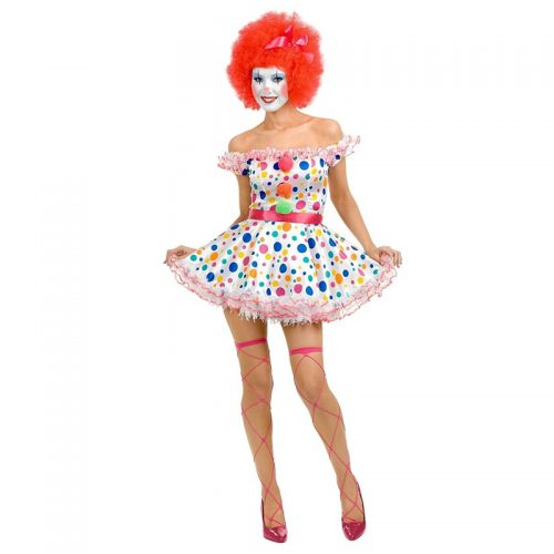 Female Clown Masquerade Costume Hire