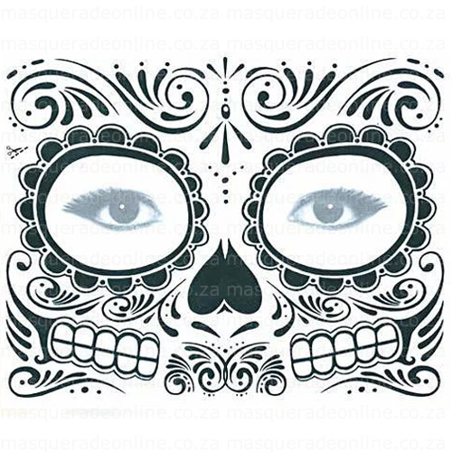 Masquerade Day of the Dead Tattoos