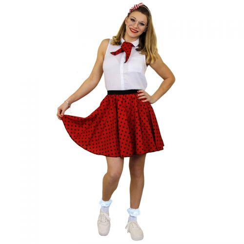 1950's Rock 'n Rock Polka Dot Skirt Masquerade Costume Hire1950's Rock 'n Rock Polka Dot Skirt