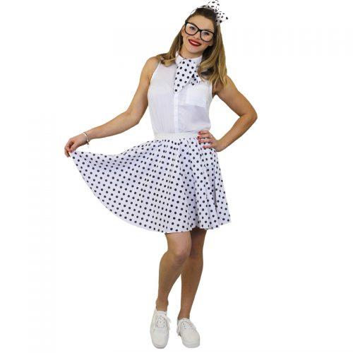 1950's Rock 'n Rock Polka Dot Skirt Masquerade Costume Hire