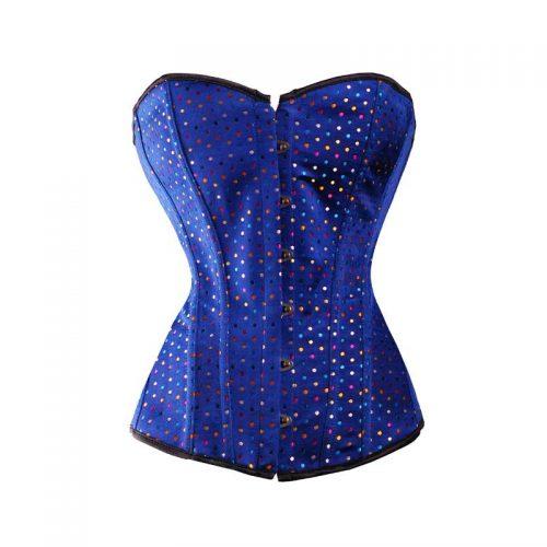 Blue Sparkle Corset Masquerade Costume Hire