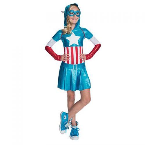 Captain America Girl Masquerade Costume Hire