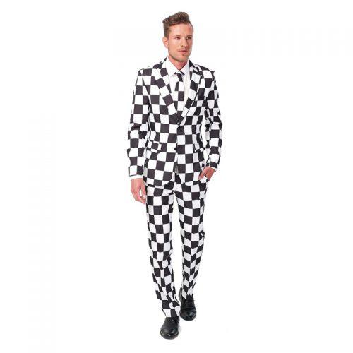 Checkerboard Suit Masquerade Costume Hire