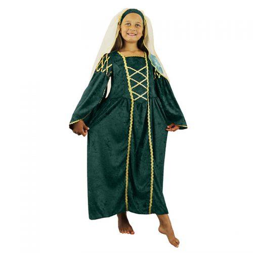 Girls Medieval Dress Masquerade Costume Hire