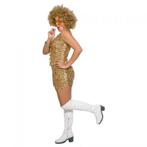 70's Disco Sequined Dress Masquerade Costume Hire
