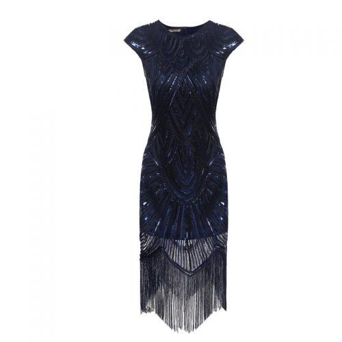 Black Embellished Flapper Dress Masquerade Costume Hire