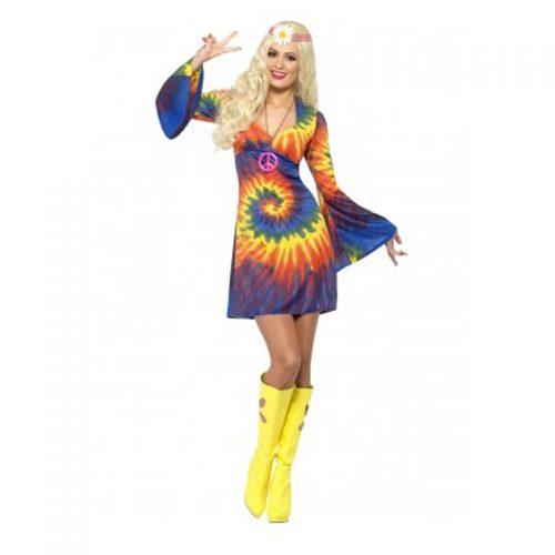 Hippie Tie Dye Dress Masquerade Costume Hire
