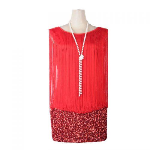 Ravishing Red Gatsby Masquerade Costume Hire