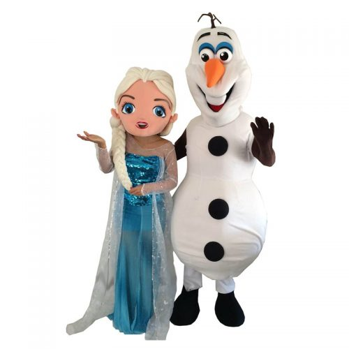 Olaf and Elsa Masquerade Costume Hire