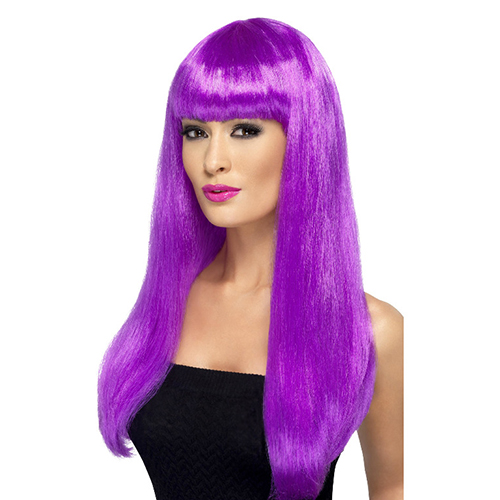 Purple wig with Bangs