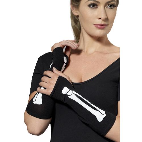 Skeleton Finger less Gloves
