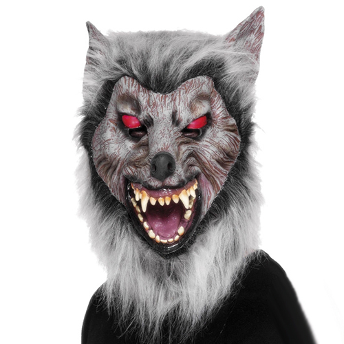 Wolf 'Latex Fur mask masquerade costume hire