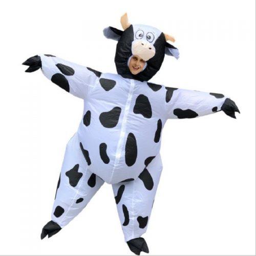 Masquerade Inflatable Cow Costume