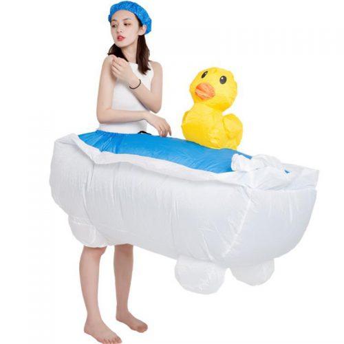 Inflatable bathtub costume