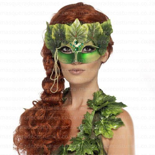 Masquerade Green Poison Ivy Mask