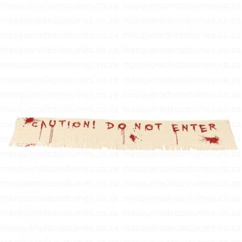 Do Not Enter Halloween Banner