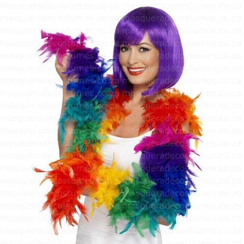 Masquerade Rainbow Feather Boa