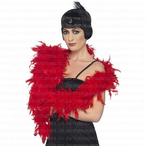 Masquerade Red Feather Boa