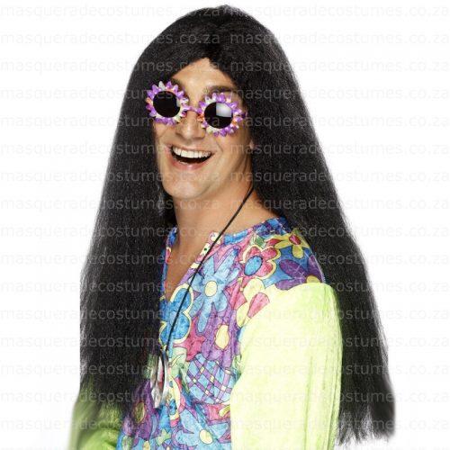 Masquerade Black Hippie Wig