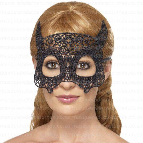 Masquerade Black Devil Lace Mask