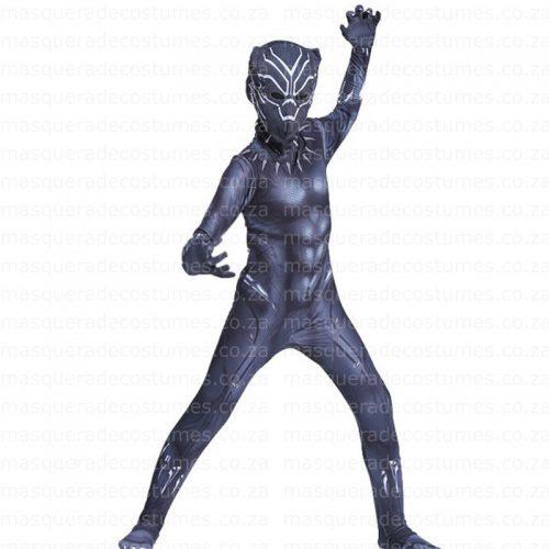 Masquerade Kid's Black Panther Inspired Spandex Costume