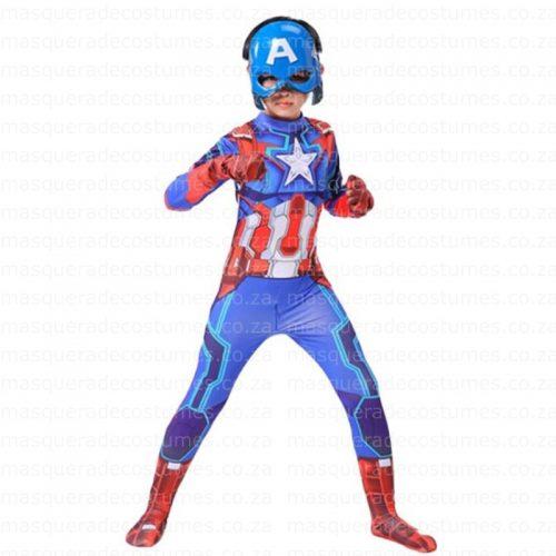 Masquerade Kid's Captain America Spandex Costume