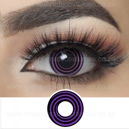 Purple and Black Spiral Contact Lenses